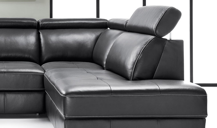 canape d'angle convertible cuir veritable