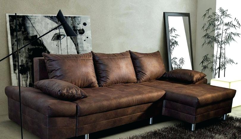 canape d'angle convertible cuir vieilli