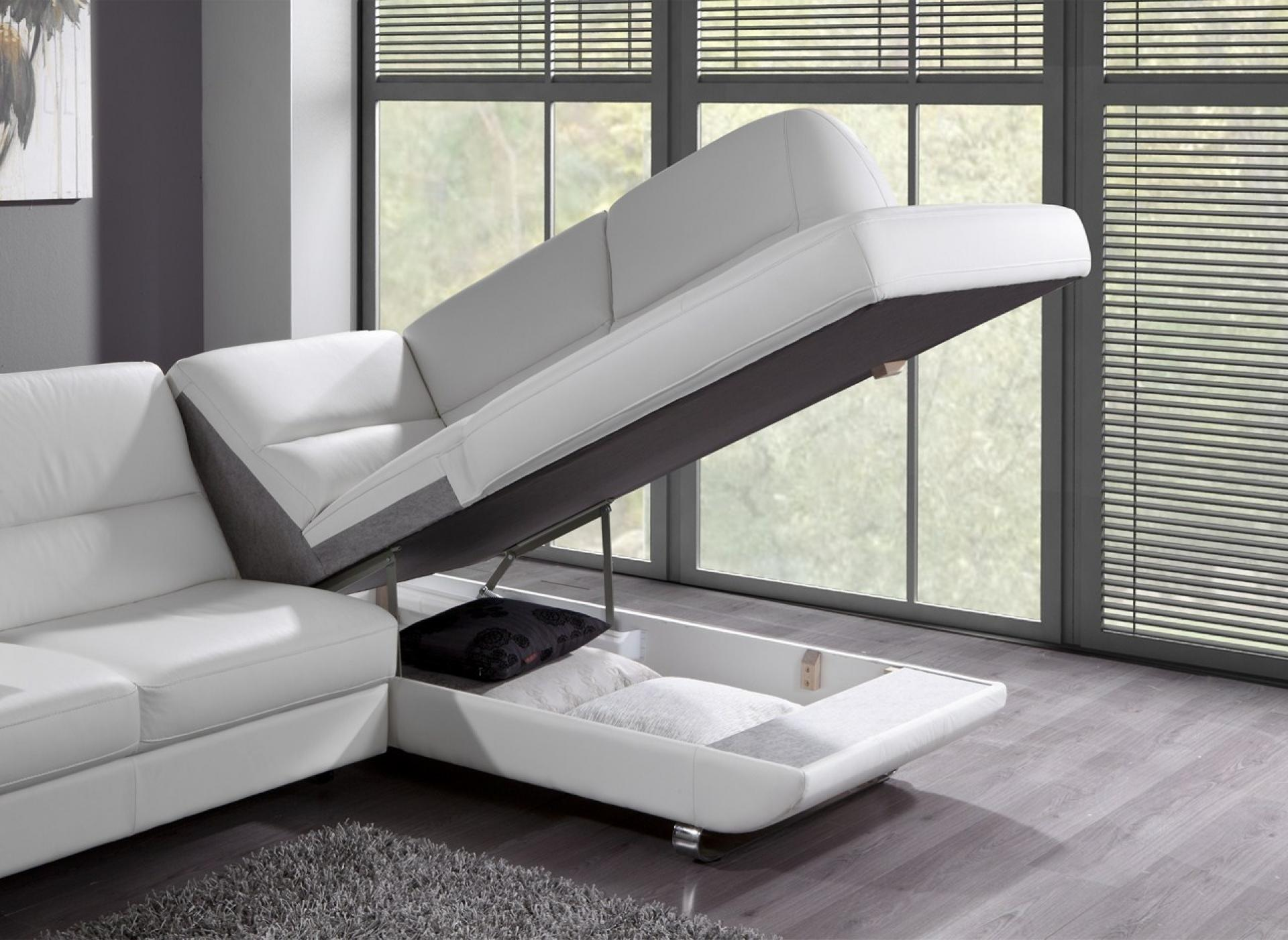 canape d'angle cuir avec rangement