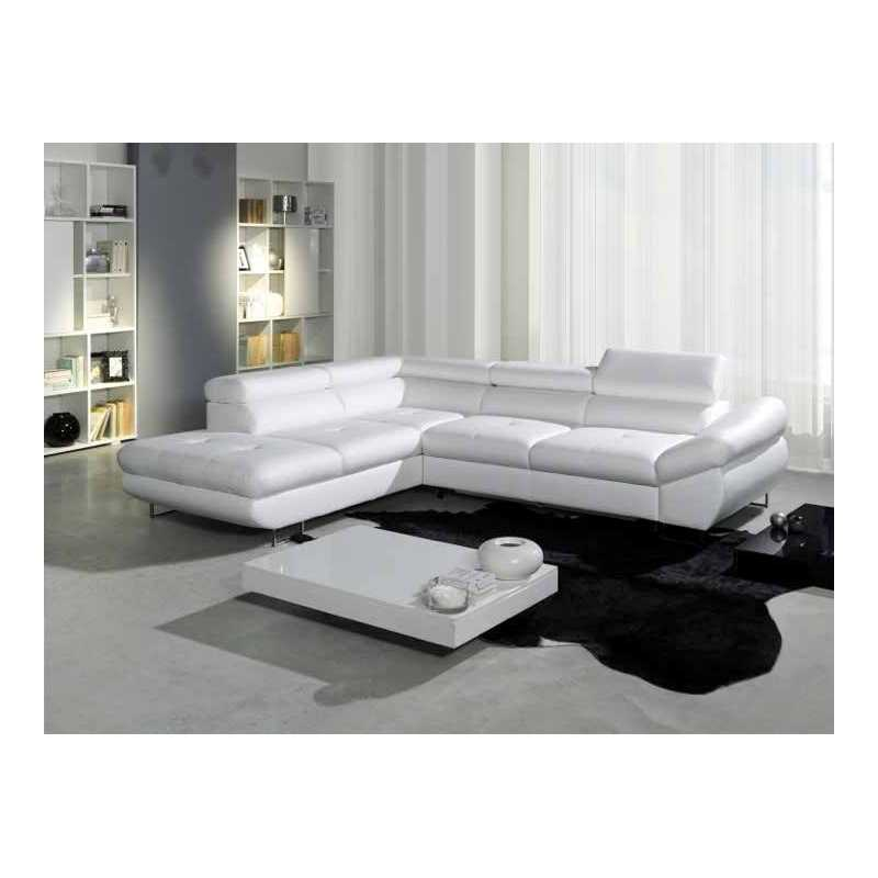 canape d angle cuir blanc convertible