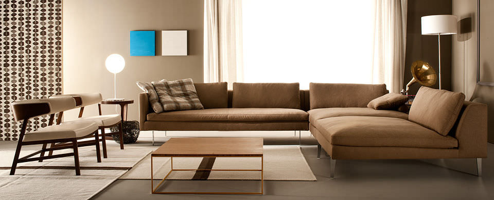 canape d'angle cuir contemporain