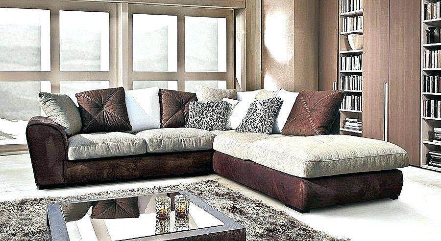 canape d'angle cuir et bois rustique