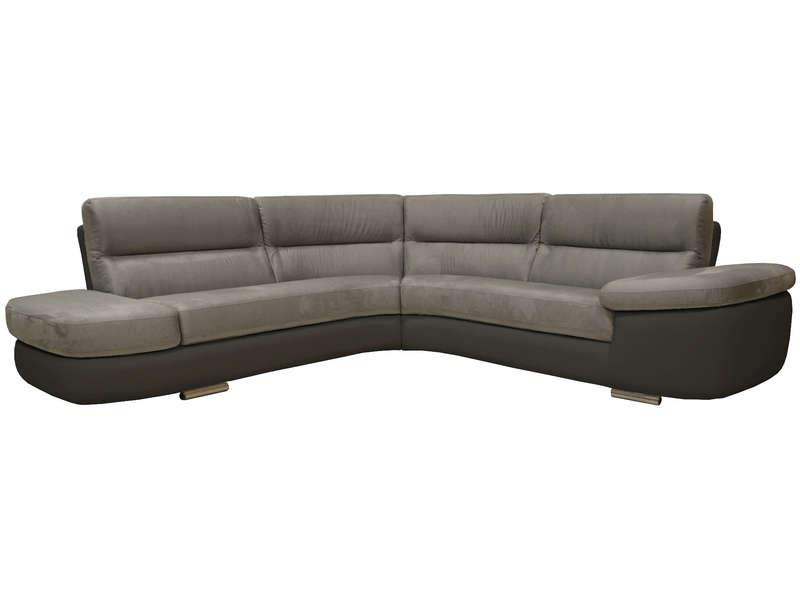 canape cuir gris conforama. Black Bedroom Furniture Sets. Home Design Ideas