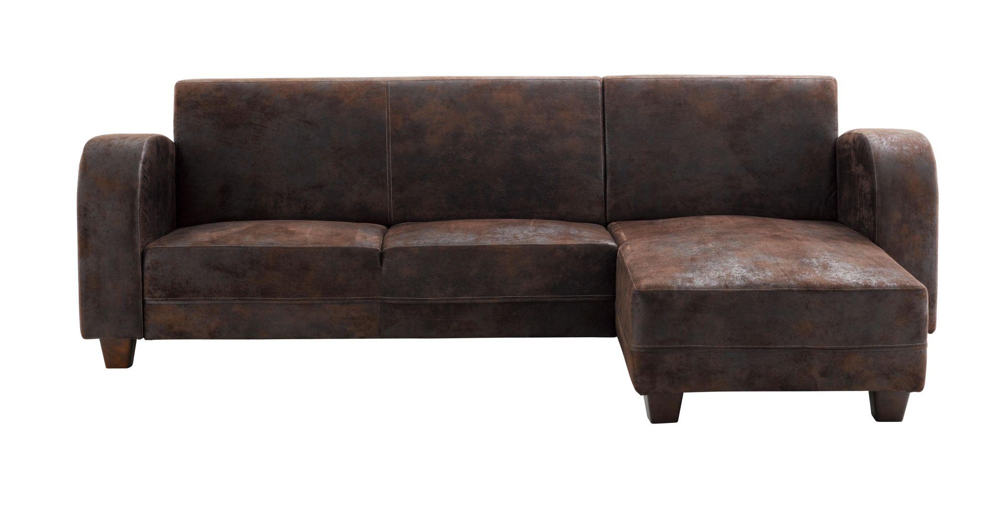 canape d'angle cuir marron vieilli