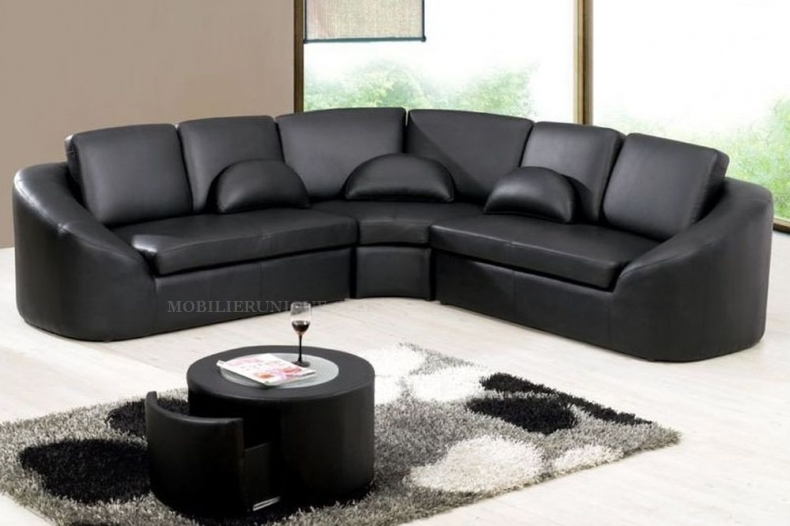 canape d angle cuir noir