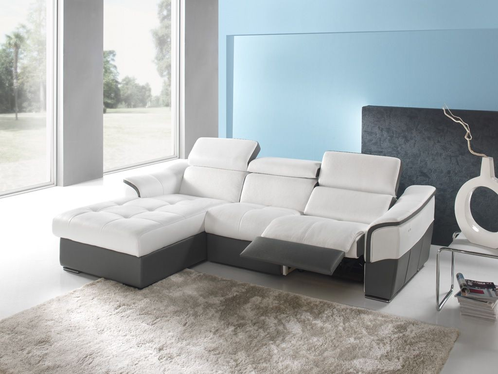 Canape D Angle Cuir Relax Electrique