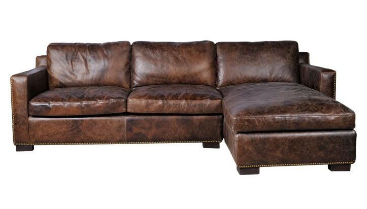 canape d'angle cuir rustique