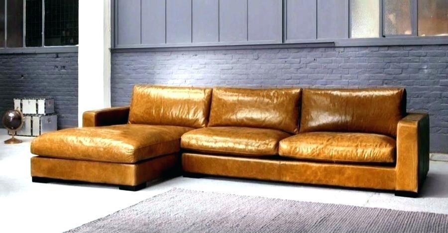 canape d'angle cuir vintage